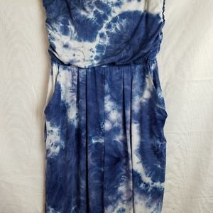 J for Justify Pants - J for Justify tye Dye blue strapless jumpsuit 1X